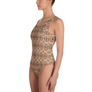 Twisted One-Piece Swimsuit by Abstraction