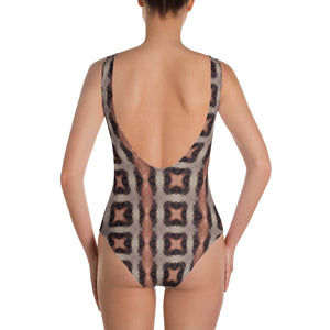 Nested Star One-Piece Swimsuit by DGD Abstraction