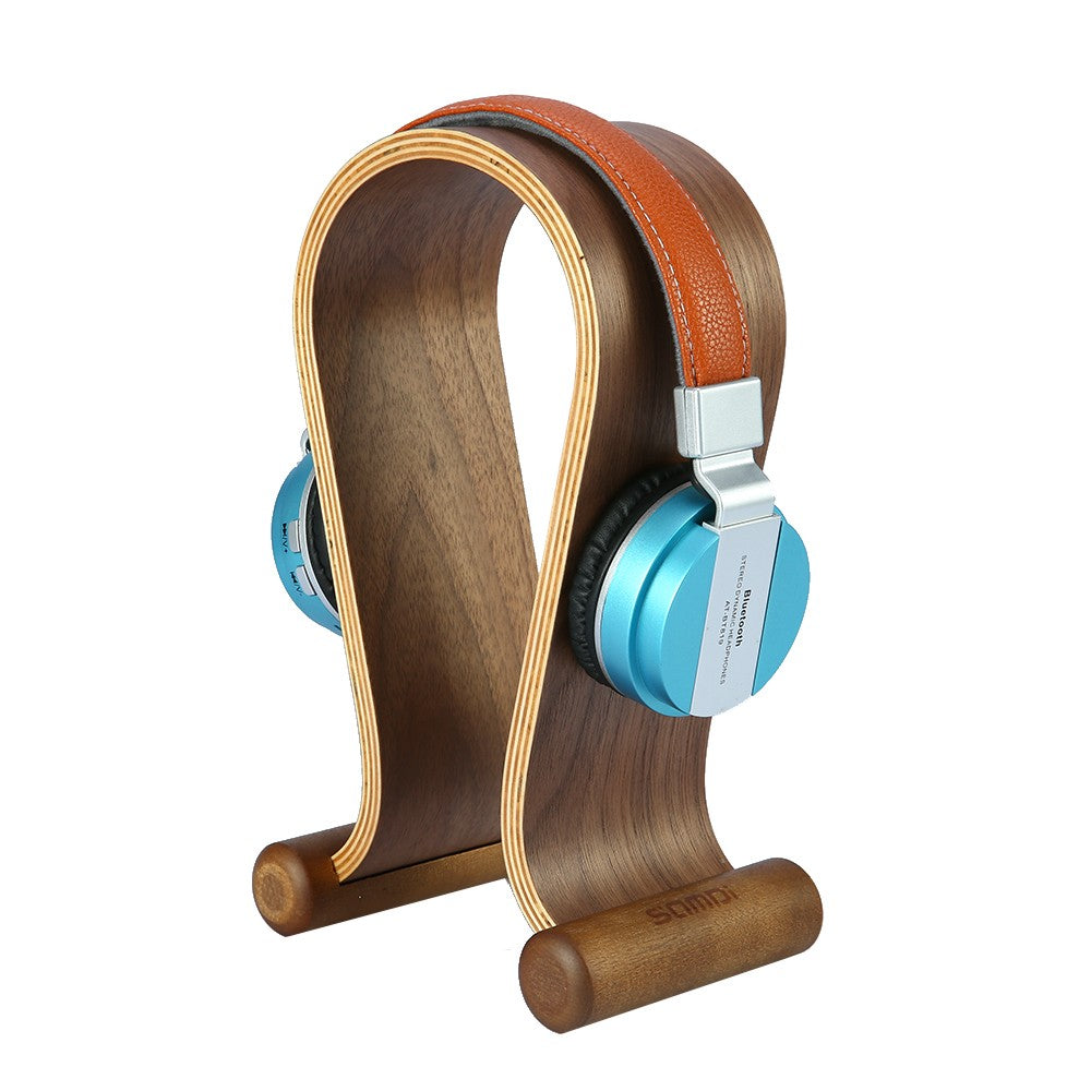 Wooden Walnut Wood Headphone Gaming Headset Display Stand Holder Hanger