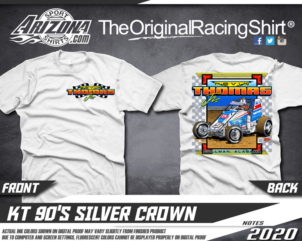 Vintage Silver Crown Tshirt - White
