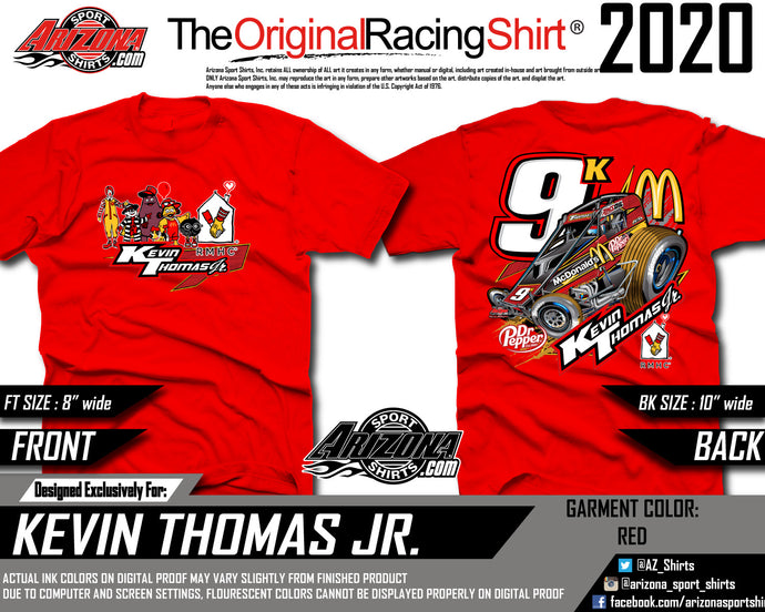 Kids - McDonalds Sprint Car Tshirt - Red