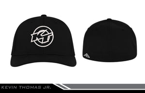 Hat - KT Logo in White - Black Fitted