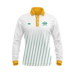 Sublimated Long Sleeve Cricket Polo Shirt