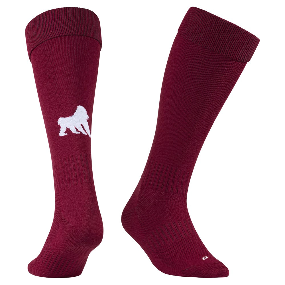 Playing Socks Maroon / White