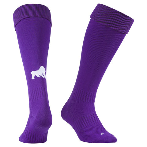 Playing Socks Purple / White