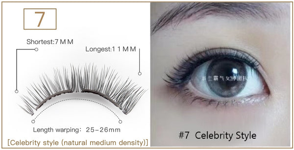 Mlen Soft Magnet False Eyelashes/Glue Free /Easy to Apply/Remove/Reusable 300 times