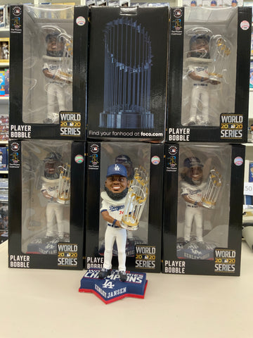 KENLEY JANSEN 2020 WORLD SERIES CHAMPIONSHIP DODGERS FOREVER COLLECTIBLE 8 INCH  BOBBLEHEAD NEW