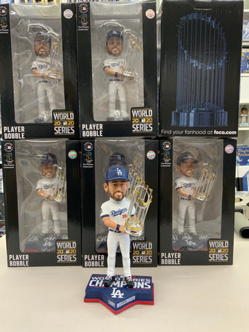 CODY BELLINGER 2020 WORLD SERIES CHAMPIONSHIP DODGERS FOREVER COLLECTIBLE 8 INCH  BOBBLEHEAD NEW