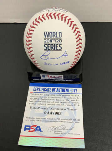 "Tony Gonsolin Los Angeles Dodgers signed 2020 World Series baseball ""2020 WS CHAMP "" inscription PSA authenticated"