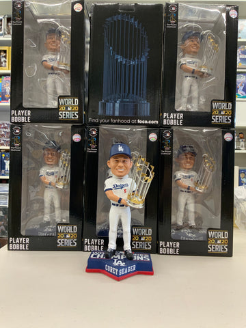 COREY SEAGER 2020 WORLD SERIES CHAMPIONSHIP DODGERS FOREVER COLLECTIBLE 8 INCH  BOBBLEHEAD NEW