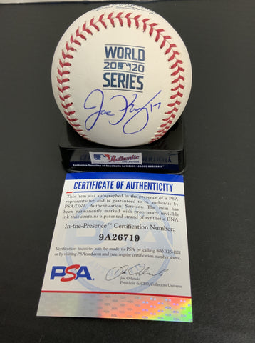 JOE KELLY Los Angeles Dodgers signed 2020 World Series baseball PSA authenticated