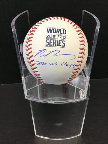 "Max Muncy Los Angeles Dodgers signed 2020 World Series baseball ""2020 W.S champs"" inscription MLB authenticated & Muncy Hologram"