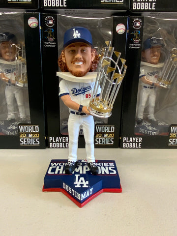 DUSTIN MAY 2020 WORLD SERIES CHAMPIONSHIP DODGERS FOREVER COLLECTIBLE 8 INCH  BOBBLEHEAD NEW