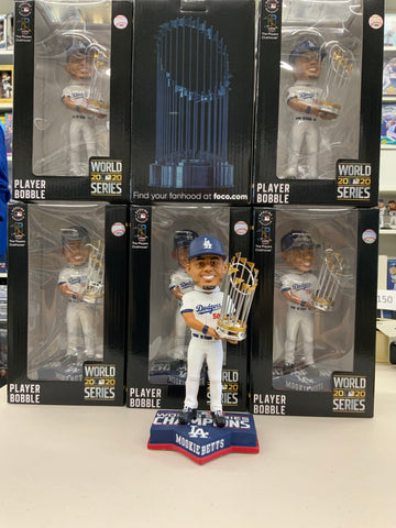 MOOKIE BETTS 2020 WORLD SERIES CHAMPIONSHIP DODGERS FOREVER COLLECTIBLE 8 INCH  BOBBLEHEAD NEW