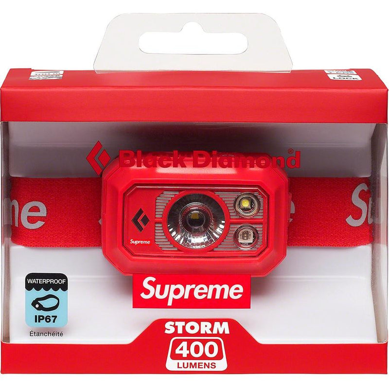 Supreme Black Diamond Storm 400 Headlamp - Red