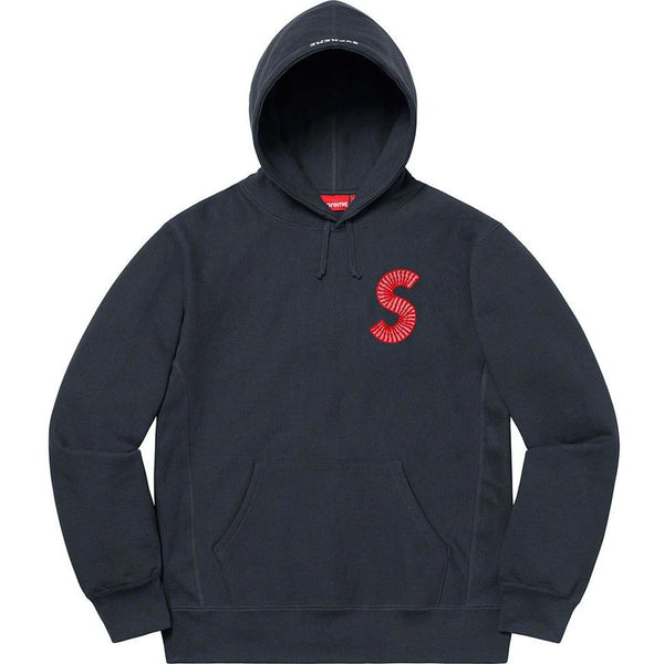 Supreme S Logo Hooded Sweatshirt - Navy