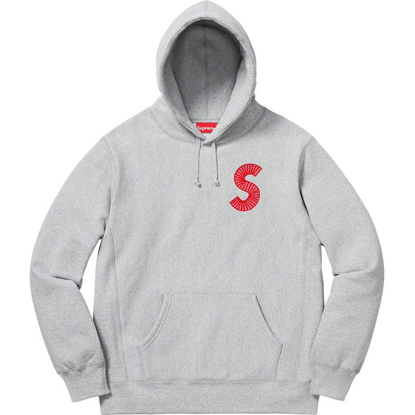 Supreme S Logo Hooded Sweatshirt - Grey