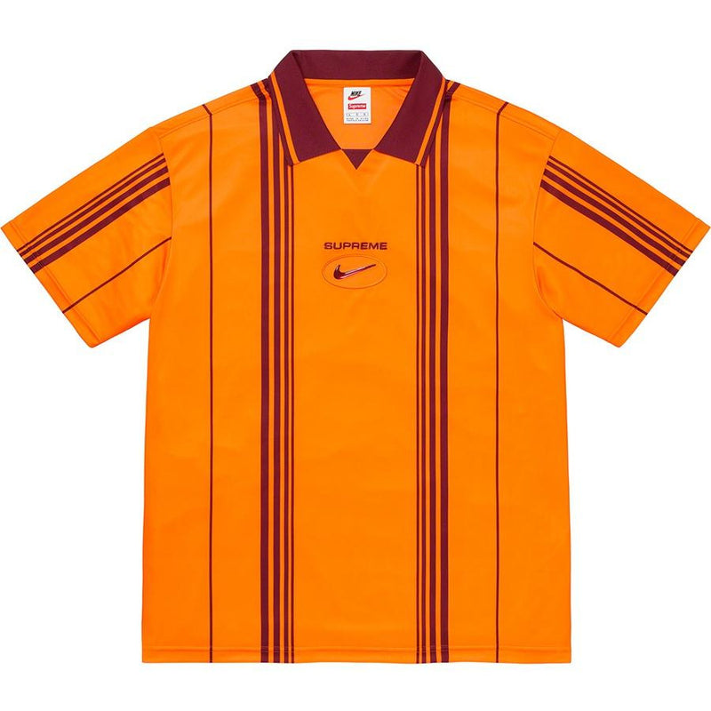 Supreme x Nike Jewel Stripe Soccer Jersey - Orange