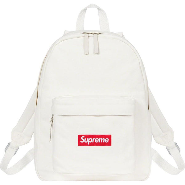 Supreme Canvas Backpack - White
