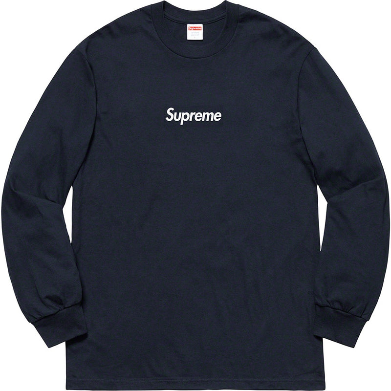 Supreme Box Logo L/S Tee - Navy