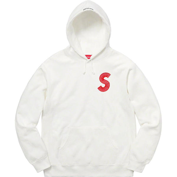 Supreme S Logo Hooded Sweatshirt - White