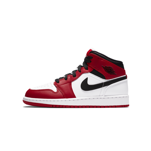 Air Jordan 1 MID - Chicago White Toe Womens (GS)