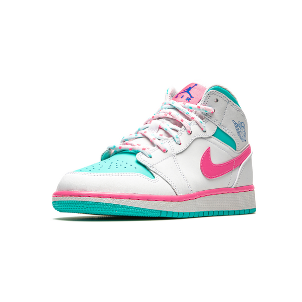 Air Jordan 1 MID - Digital Pink White Womens (GS)