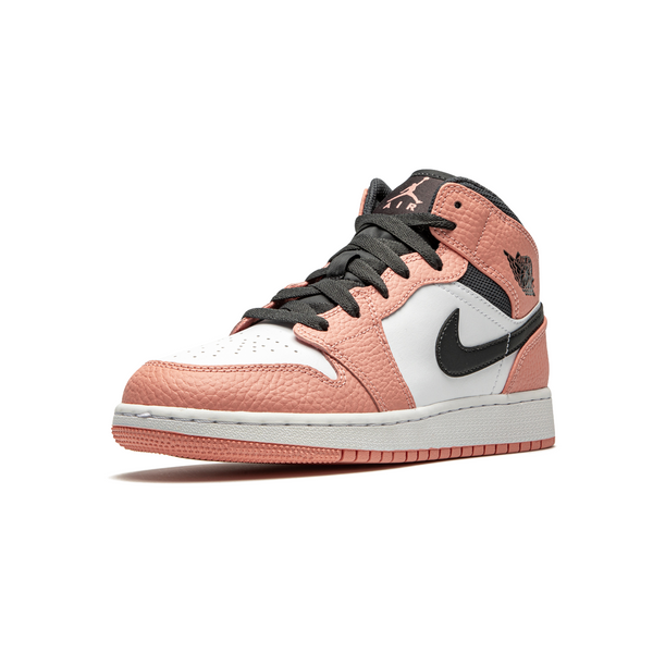 Air Jordan 1 MID - Pink Quartz Womens (GS)