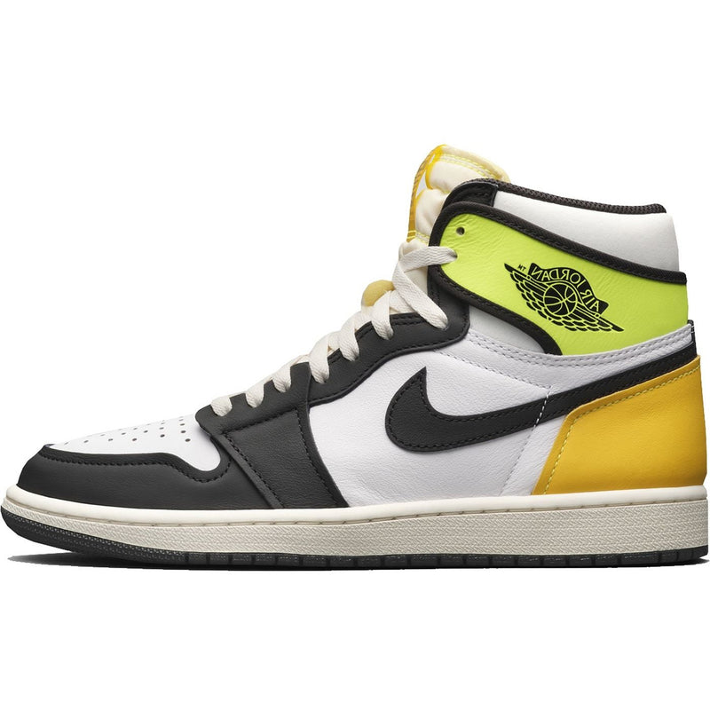 Air Jordan 1 -  High White Black Volt University Gold