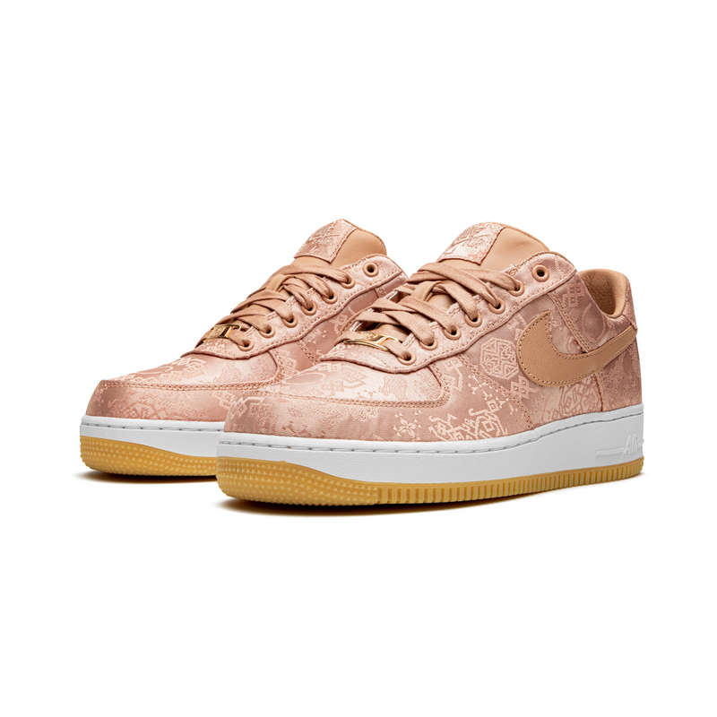 Nike x Clot Air Force 1 - Rose Gold Silk