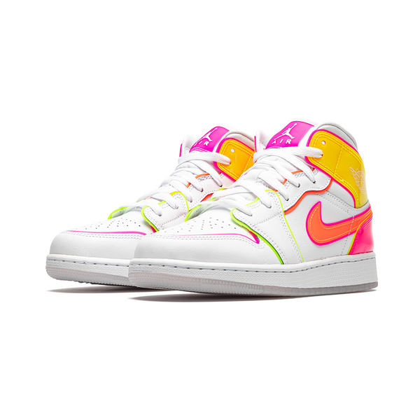 Air Jordan 1 MID - Edge Glow Pink Womens (GS)