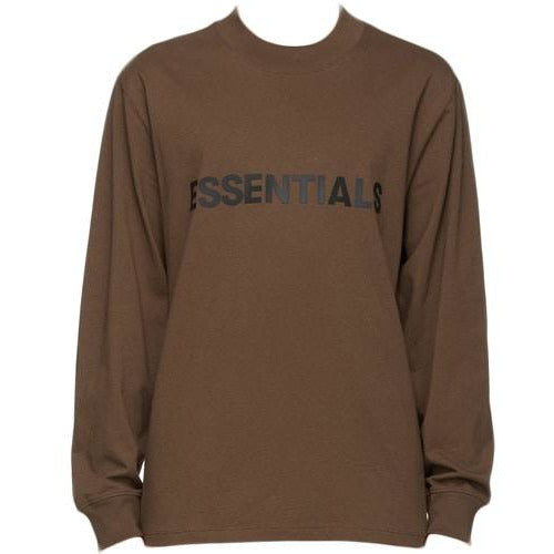 FOG - ESSENTIALS 3D Silicon Applique Long Sleeve Tee - Brown