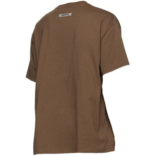 FOG - ESSENTIALS 3D Silicon Applique Boxy Tee - Brown