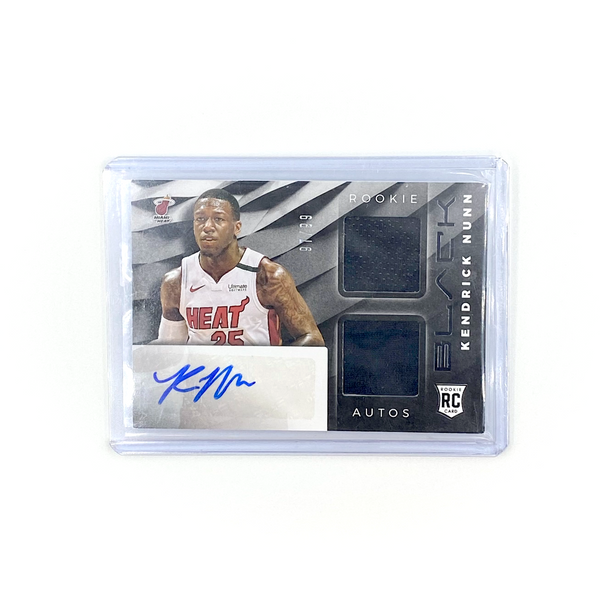 Panini BLACK - Kendrick Nunn /99 RPA Dual Patch Auto RC Heat Rookie 2019-20