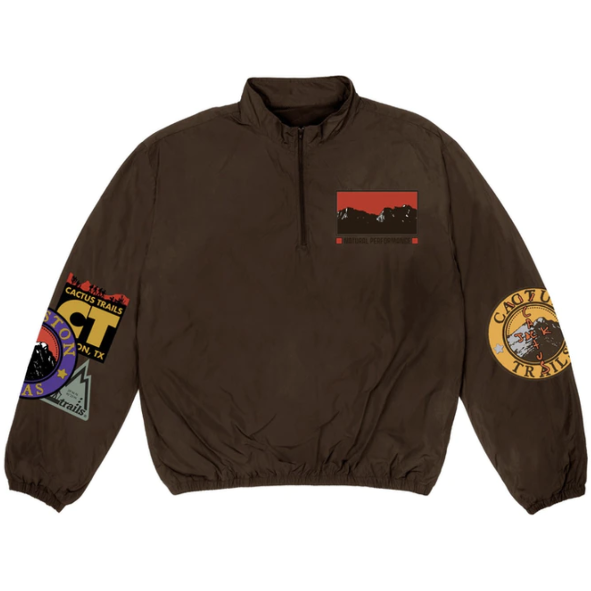 Travis Scott Cactus Trails Half-Zip Windbreaker -  Brown