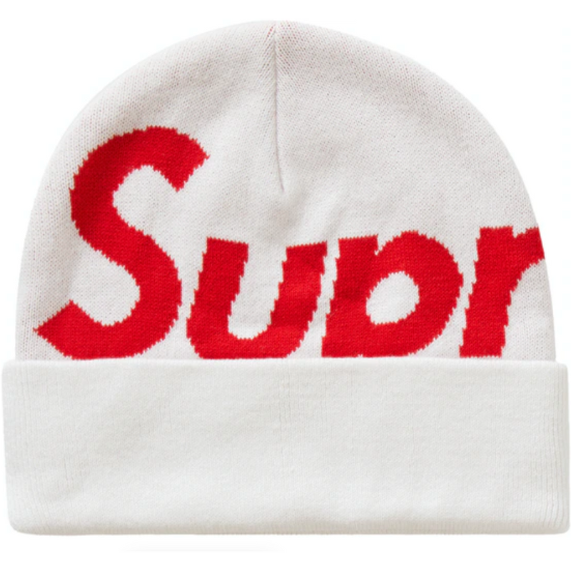 Supreme Big Logo Beanie (FW20) - White