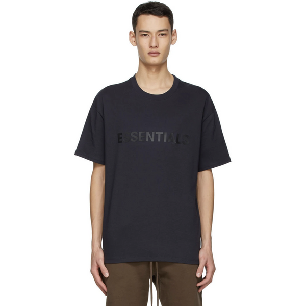 FOG - ESSENTIALS 3D Silicon Applique Boxy Tee - Dark Navy