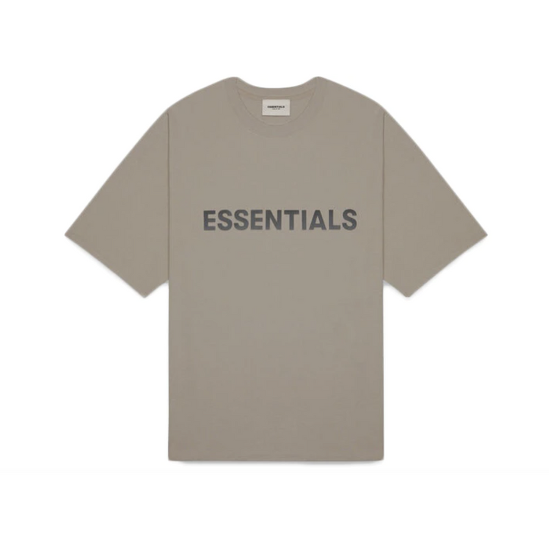 FOG - ESSENTIALS 3D Silicon Applique Boxy Tee - Taupe
