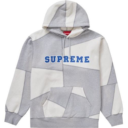 Supreme Patchwork Hooded Sweatshirt - Heather Grey