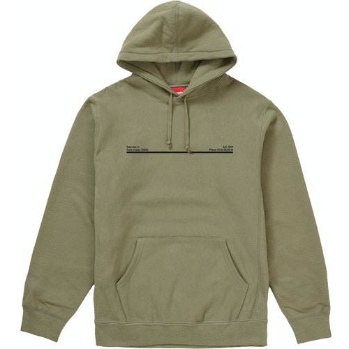 Supreme Shop Hooded Sweatshirt Paris - Olive