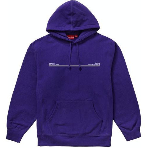 Supreme Shop Hooded Sweatshirt Paris - Purple