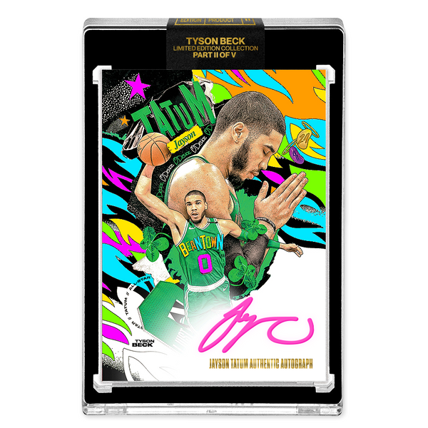PART II OF V - OFFICIAL JAYSON TATUM - NEON UV HAND EMBELLISHED AUTOGRAPHED CARD