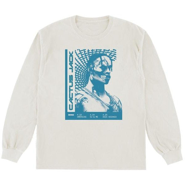 Travis Scott T-3500 Repeat L/S Tee White