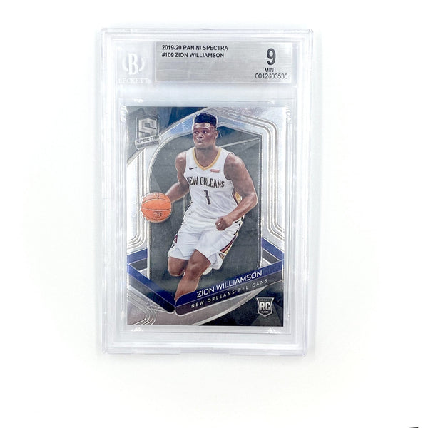 Spectra Basketball -  Zion Williamson 2019-20 PELICANS #109 Rookie Card RC BG9 Mint