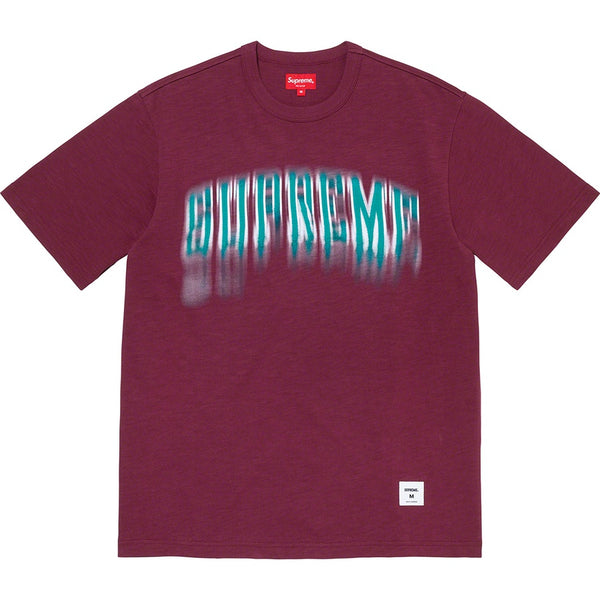 Supreme Blurred Arc Tee - Plum