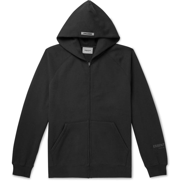 FOG - ESSENTIALS 3D Silicon Applique Full Zip Up Hoodie (Black)