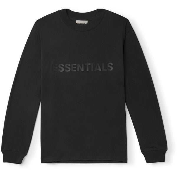 FOG - ESSENTIALS 3D Silicon Applique Long Sleeve Tee (Black)