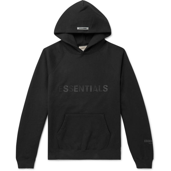 FOG - ESSENTIALS 3D Silicon Applique Pullover Hoodie (Black)