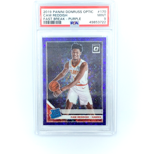Donruss Basketball -  Cam Reddish 2019-20 Hawks Fast Break - Purple  #170 PSA 9