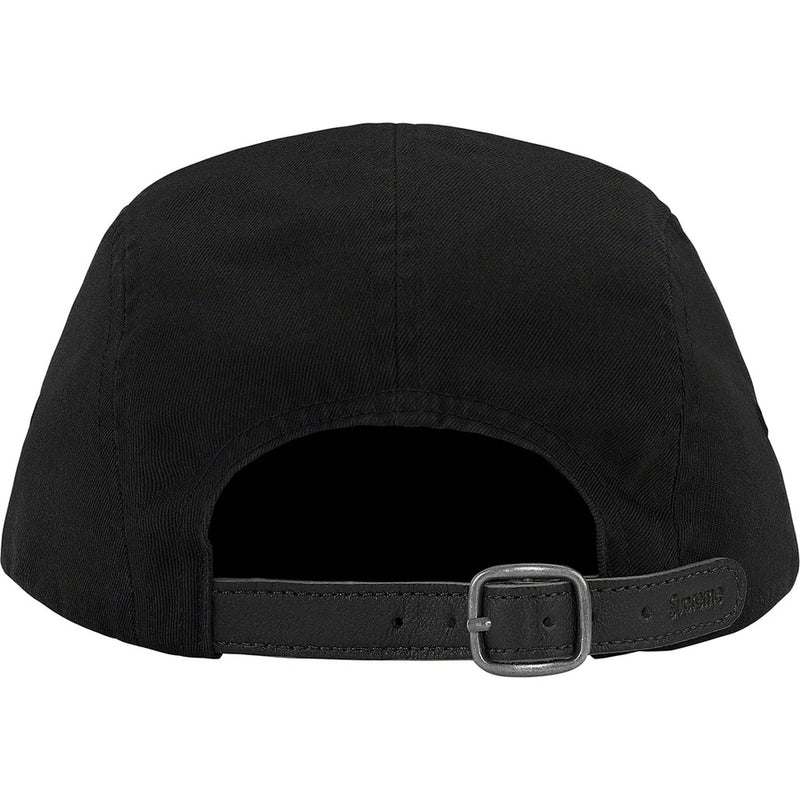 Supreme Washed Chino Twill Camp Cap - Black